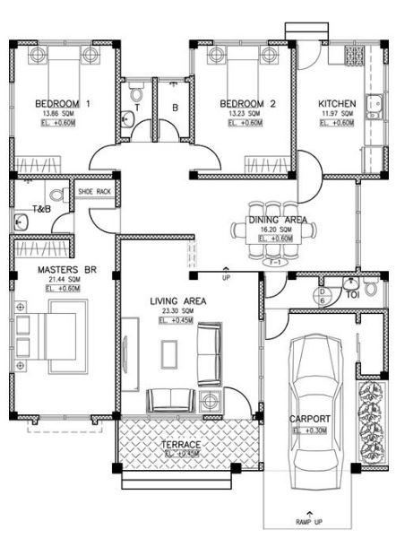 planos-de-casas-con-techo-a-dos-aguas