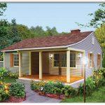 Plano de casa pequeña de 70 metros cuadrados y 2 dormitorios