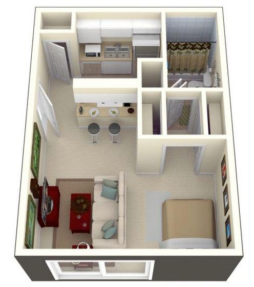 departamento-de-un-dormitorio-rectangular