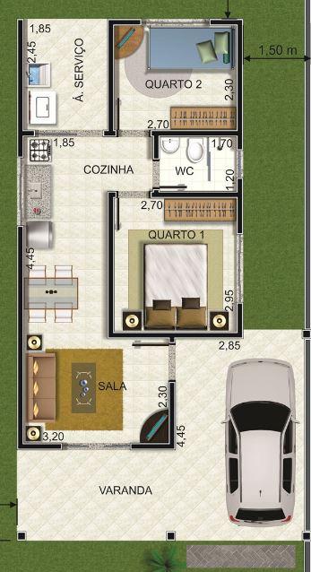 diseno-de-casa-pequena-con-cochera-y-2-dormitorios