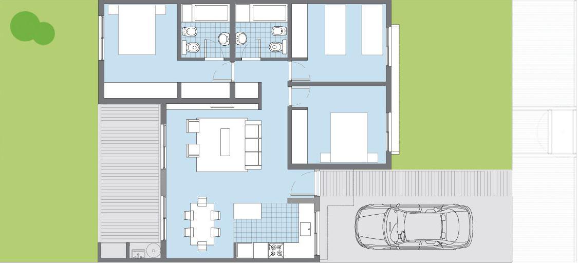 Modelos de casas de 3 dormitorios planta baja for Modelos de casas de una sola planta