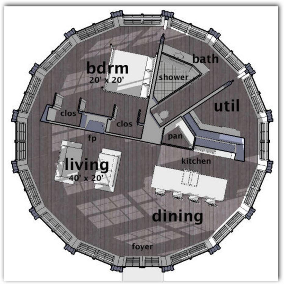plano-de-casa-circular-de-un-dormitorio