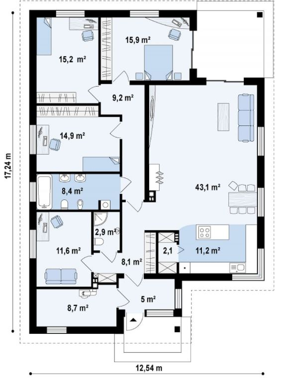 planos de casas 9 x 5