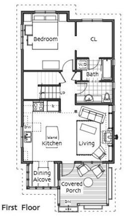 planos de casas de dos pisos en terrenos angostos