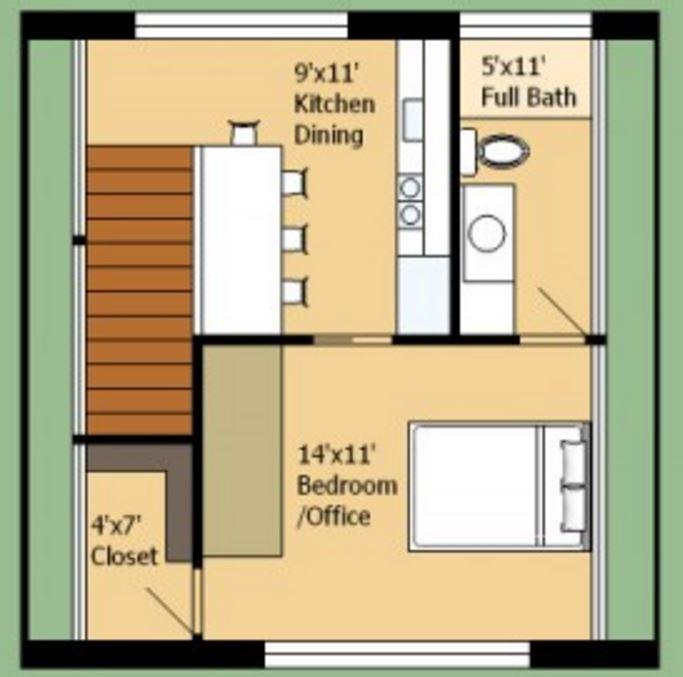 plano-de-casa-de-dos-pisos-y-un-dormitorio