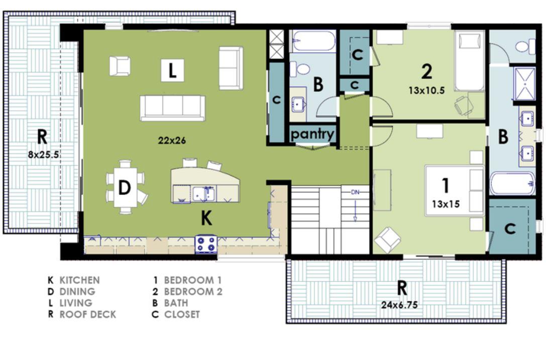 Casa de 200m2 for Modelos de casas minimalistas de dos plantas