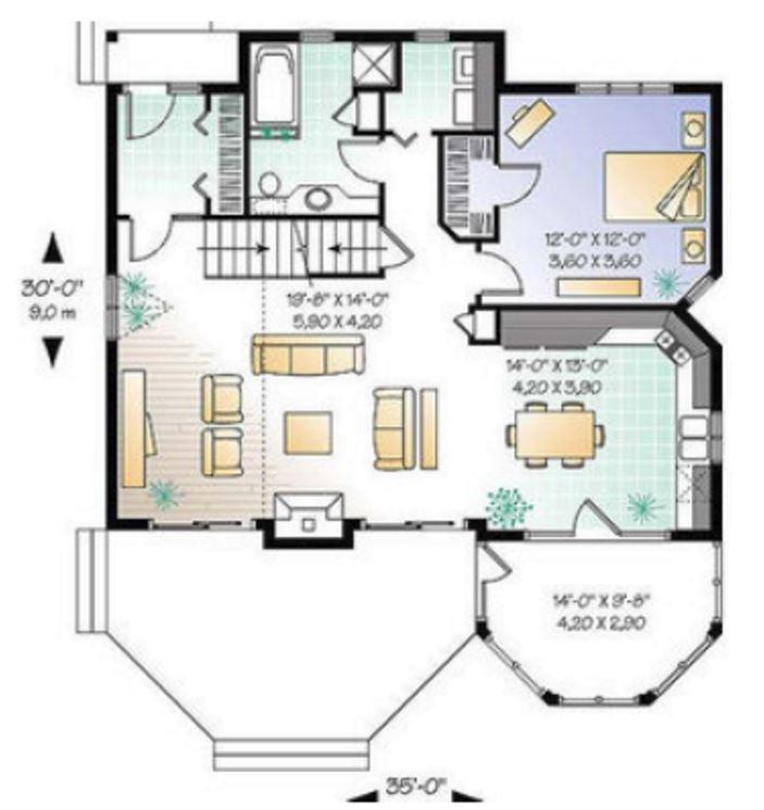 Casa de 2 pisos y 160 metros cuadrados