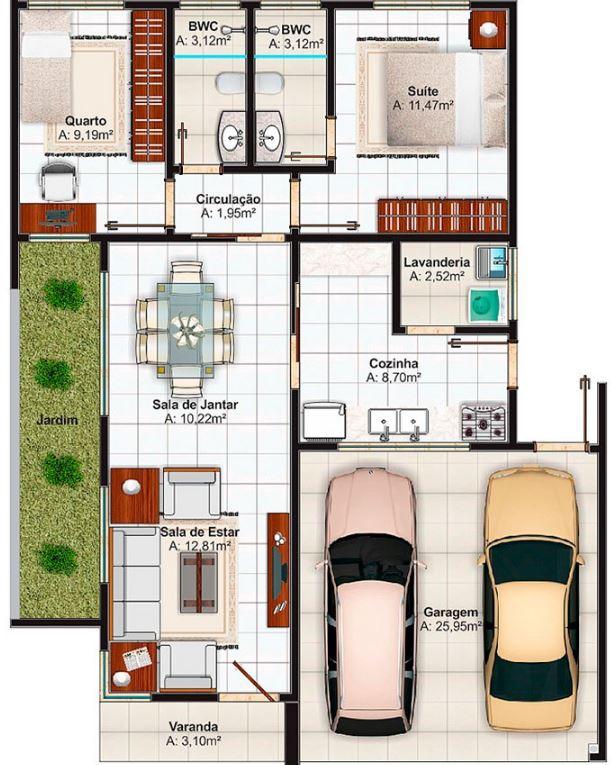 Casas modernas planos for Disenos de casas 10x20