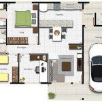 Modelos de casas sencillas con dos dormitorios