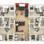 Modelos de departamentos de 4 dormitorios