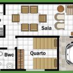 Plano de casa pequeña de 2 recamaras