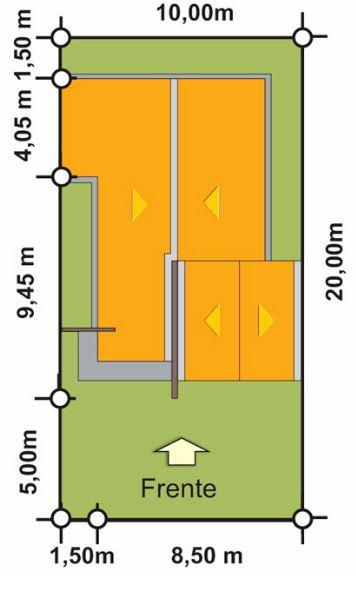 Planos de casas modernas de 10x20
