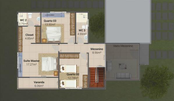 Planos de casas modernas de 3 dormitorios y 2 pisos