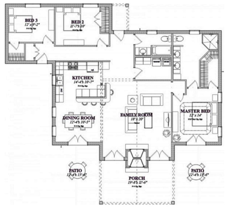 Modelos de casas chalet - Plano de chalet ...