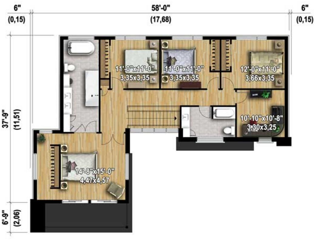 planos de casas 250m2