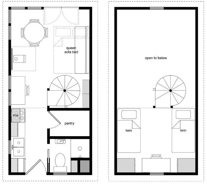 Planos para casas de 3 metros de ancho for Distribucion oficinas pequenas