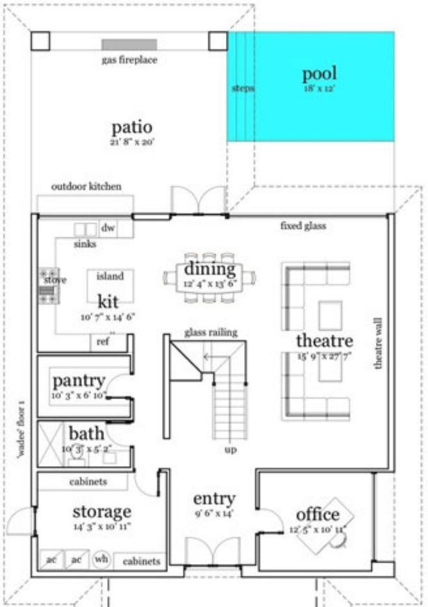 Plano de casa minimalista for Piso 65 metros cuadrados
