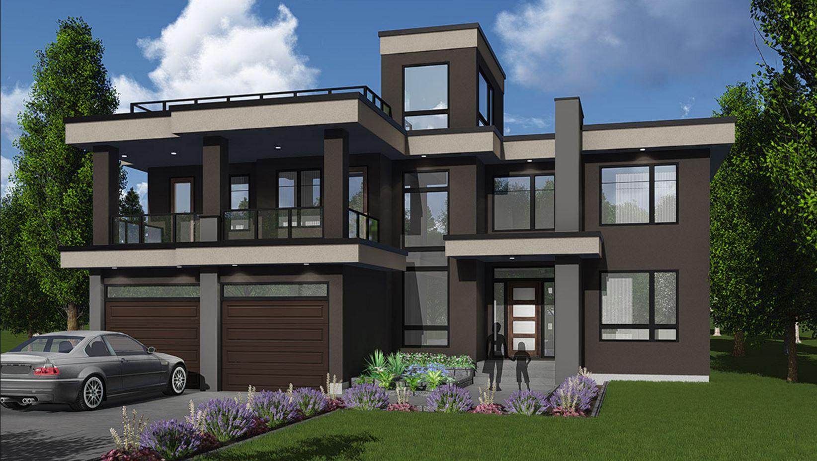 Plano de casa grande de dos pisos for Planos para casas de dos pisos modernas