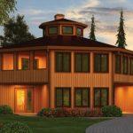 Plano de casa hexagonal