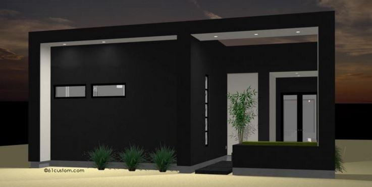 Planos de casas minimalistas de un solo piso for Colores en casas minimalistas