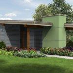 Plano de casa economica de 2 dormitorios con cochera