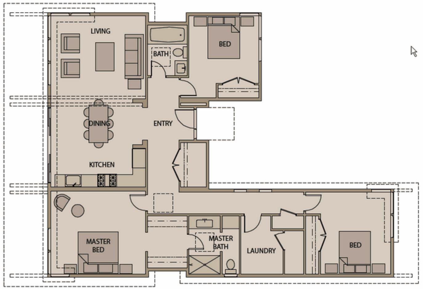 plano de casa prefabricada
