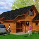 Plano para casa de madera