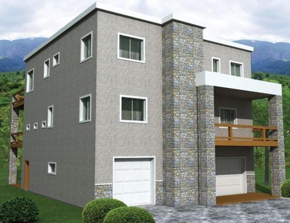 Planos de casas de 3 pisos modernas for Fachadas de casas de 3 pisos modernas
