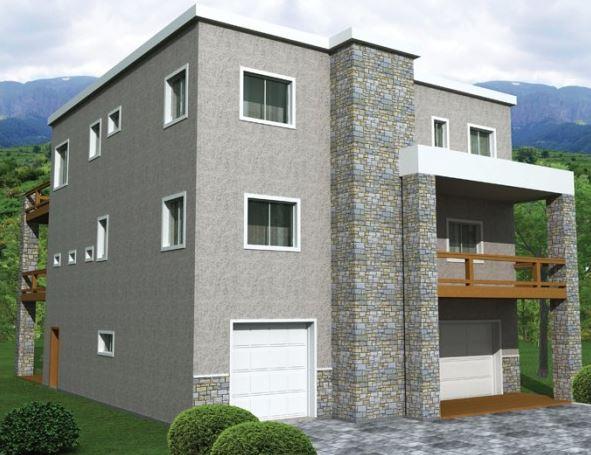 Planos de casas de 3 pisos modernas for Planos de casas de 3 pisos