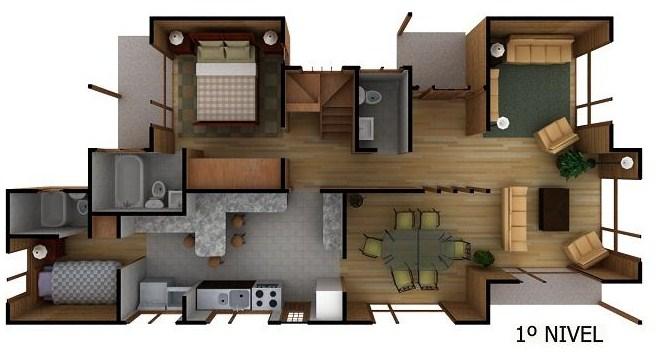 planos de casas de dos pisos en 3d independientes