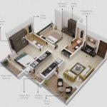 Departamentos de 2 habitaciones con 4 balcones