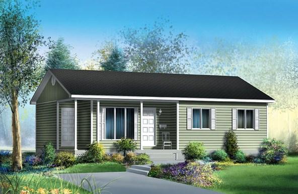 al observar el exterior de este diseo de casa de cuatro ambientes vemos que tiene una fachada sencilla con techo a dos aguas aberturas de aluminio y