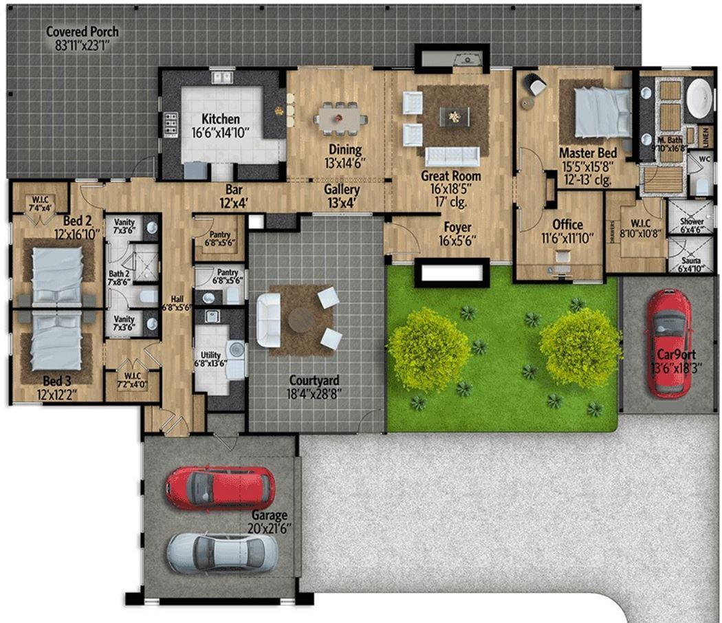 planos de casas modernas y amplias