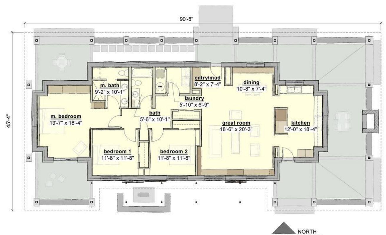 plano de casa de 170 m2