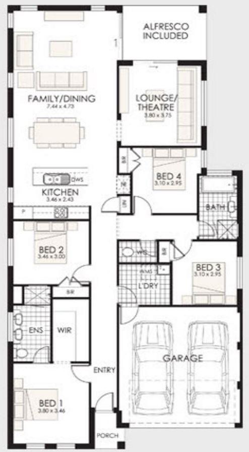 planos de casas pequenas sin cochera