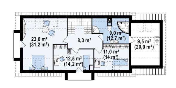 Planos de casas con fachadas bonitas for Casas planta baja bonitas