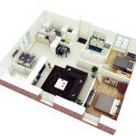 Planos de casas cuadradas de una planta