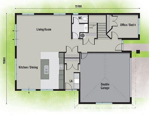 Planta de casa 2 pisos modelos de fachadas de casas de - Cuanto cuesta hacer una casa de dos plantas ...
