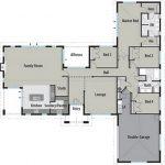 Casa con forma de T
