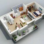 Departamento de 1 dormitorio con balcón
