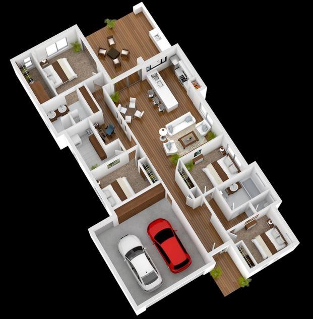 planos de casas modernas en d