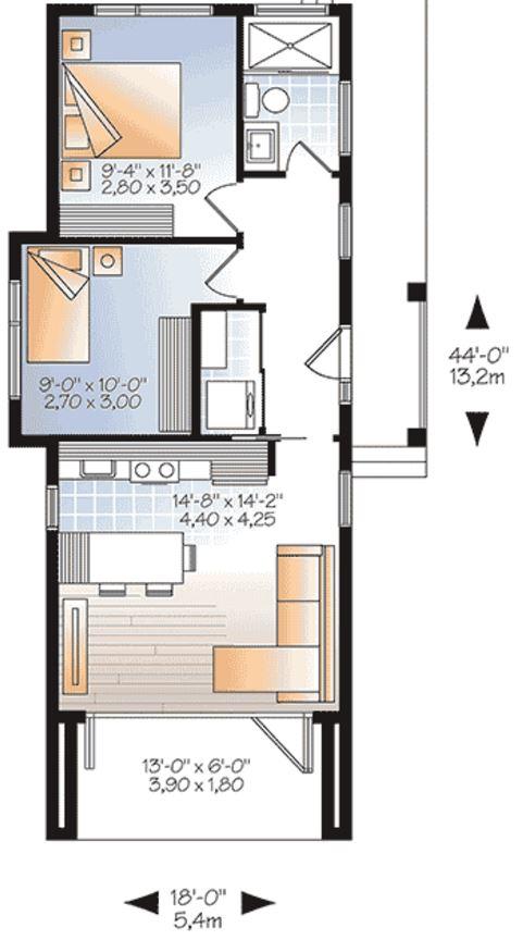 planos de casas verticales
