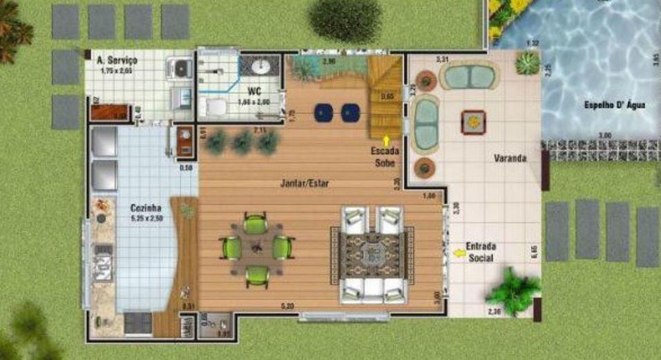 Planos de casas modernas de 2 plantas for Plantas de viviendas modernas