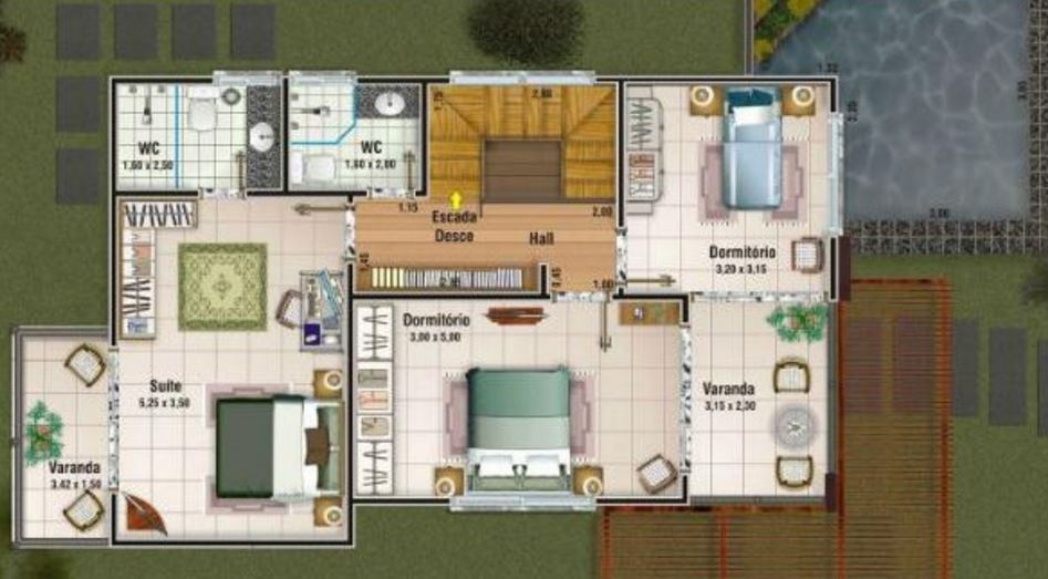 Planos de casas de dos pisos modernas for Se puede dividir un piso en dos