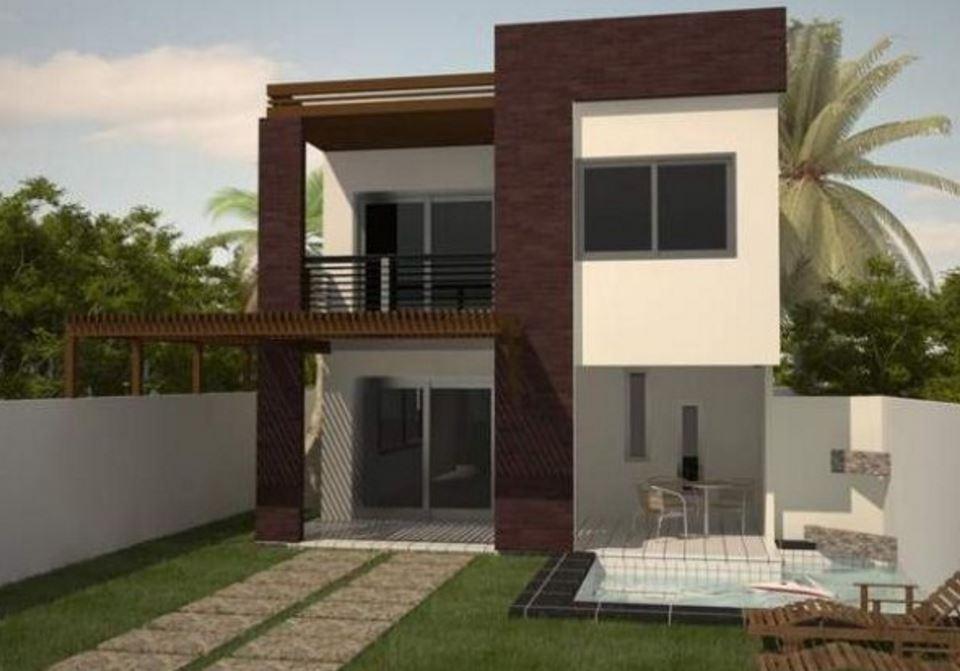 Planos de casas de dos pisos modernas Pisos modernos para casas minimalistas