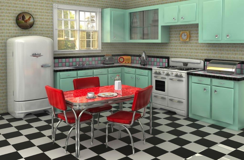 Cocina de estilo retro - Muebles de cocina estilo retro ...