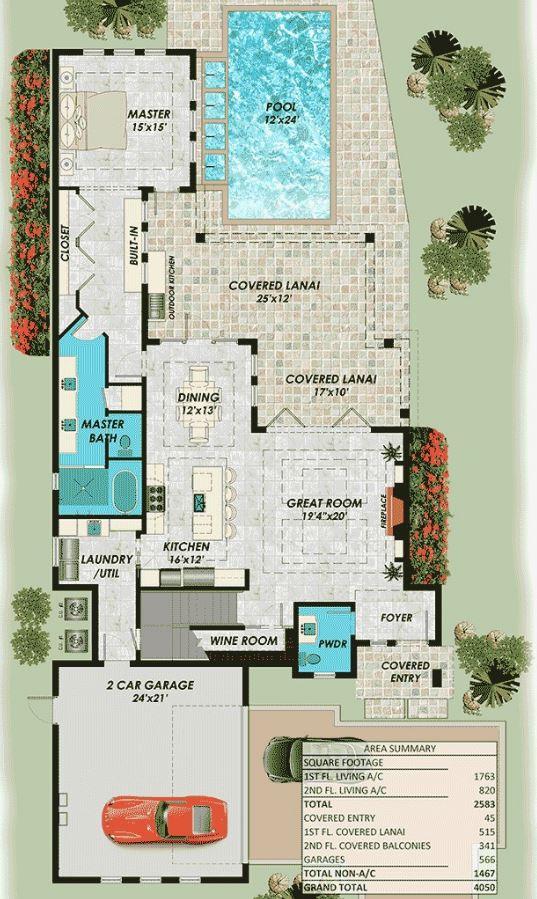 Planos de piscinas plano de casa moderna con piscina en for Planos para piscinas