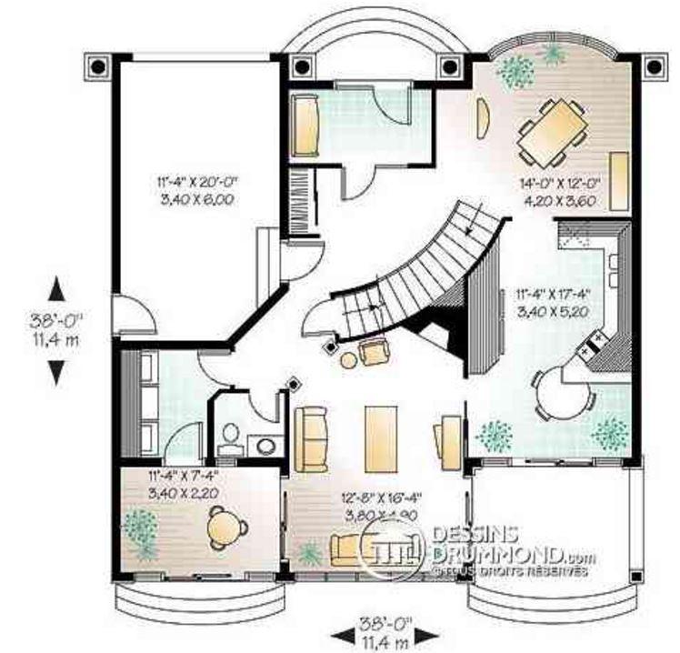Casa con 2 balcones y 2 plantas for Plantas fundamentales