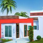 Casa con techo plano de 2 habitaciones