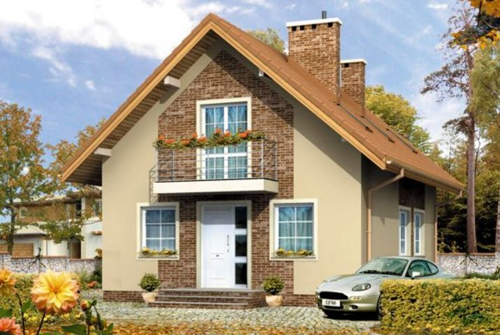 Casas de dos pisos con techo de dos aguas for Modelos de casas de 2 pisos